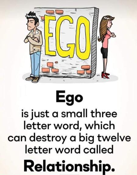 Ego kills relationship