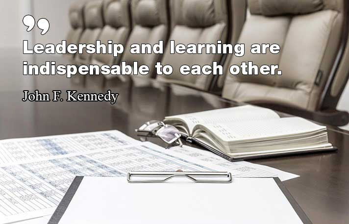 Leadership and learning are indispensable to each other john f kennedy