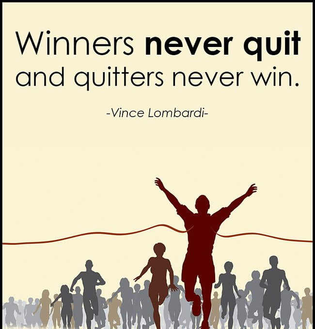 Quotes about difference between winners and losers